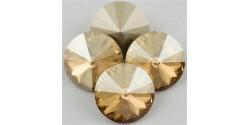 Swarowsky Rivoli Crystal Golden Shadow  001GSHA 18mm